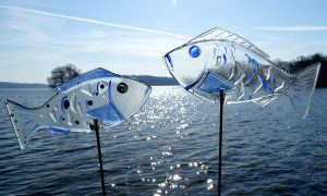 Antje-Otto-Glaskunst Stecker-Fische