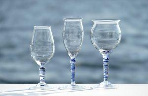 Weinglaeser Gebrauchsglaeser Glaskunst Antje Otto Keitum Sylt